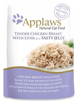 APPLAWS Cat Pouch Jelly Pollo e Higado 70g