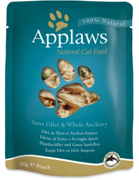 APPLAWS Cat Pouch Atun y Anchoa 70g