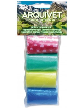 ARQUIVET Bolsas de Recambio de Colores 4 rollos de 20 unidades