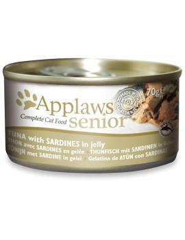 APPLAWS Cat Senior Atun con sardinas en gelatina 70g