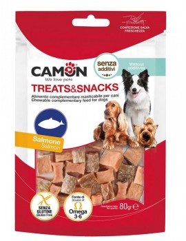 CAMON Treat & Snacks Dados Salmón 80g