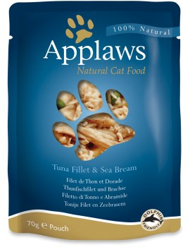 APPLAWS Cat Pouch Atun y Besugo 70g