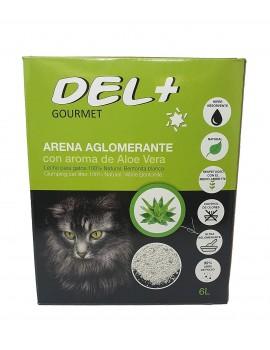 DEL+ Arena Aglomerante Aloe Vera 6 Litros 5 Kg