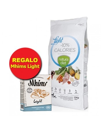 NATURA DIET LIGHT -10% CALORIES 12KG PROMOCION + REGALO Mhims Light