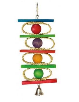 Juguete pajaro Aros bolas campana 10x25cm