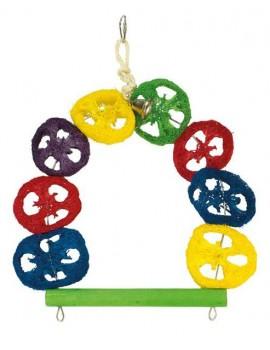Juguete pajaro Columpio multicolor