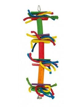 Juguete pajaro Lazos colores y campana 13x45cm