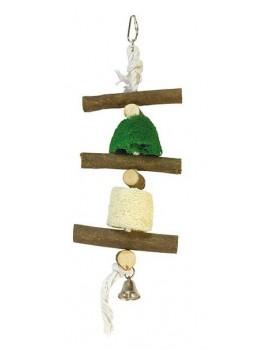 Juguete pajaro Madera sin colorear campana 12x30cm