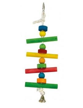 Juguete pajaro Maderas colores campana 12x38cm