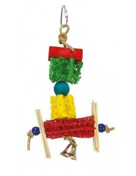 Juguete pajaro con campana 14x23cm