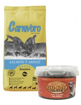 CARNIVORO SALMON Y ARROZ (SENSITIVE) 15 KILOS