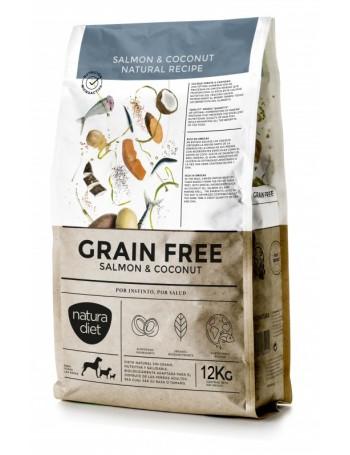 NATURA DIET Grain Free Salmón y Coco 12 Kg sin cereales