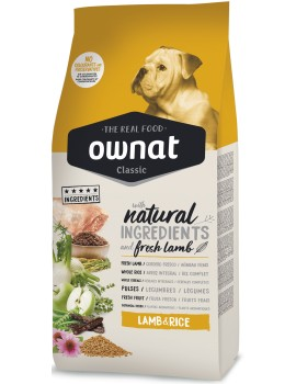OWNAT CLASSIC Lamb and Rice 20kg