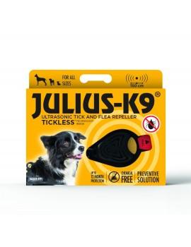 JULIUS -K9 Repelente Ultrasónico de garrrapatas y pulgas Negro