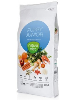 NATURA DIET PUPPY & JUNIOR 12 KG + 2 KILOS GRATIS