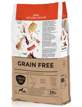 NATURA DIET Grain Free Baby Cachorros 3 Kg sin cereales