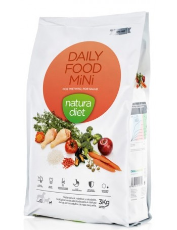 NATURA DIET Daily Mini 3 Kg Adulto Razas Pequeñas con Pollo