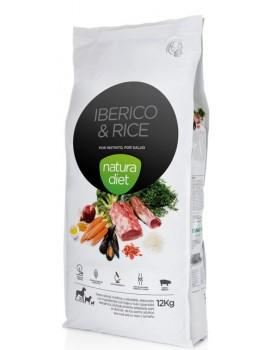 NATURA DIET Iberico & Rice 12 Kg Razas Medianas y Grandes Cerdo Iberico