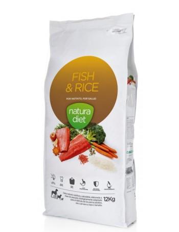 NATURA DIET Fish & Rice 12 Kg Razas Medianas y Grandes Salmón