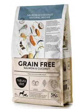 NATURA DIET Grain Free Salmón y Coco 3 Kg sin cereales