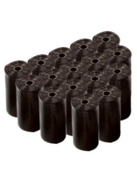 DUVO Bolsas Higiénicas Negras 16 rollos de 20 bolsas