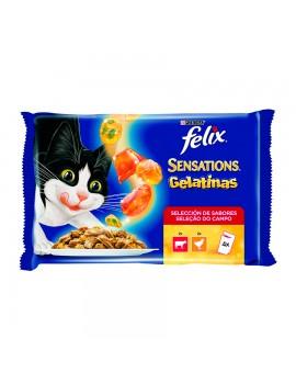 PURINA Félix Sensations en Gelatina con Carne 4x100 Gr