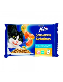 PURINA Félix Sensations en Gelatina Salmón Trucha  4x100 Gr