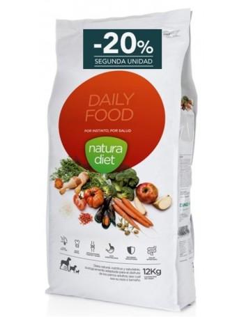 NATURA DIET Daily Food Pienso Perro Adulto 12 Kg Razas Medianas con Pollo 20% descuento 2ª unidad