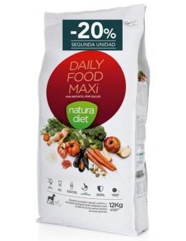 NATURA DIET Daily Food Maxi Pienso Perro 12 Kg Razas Grandes Pollo 20% descuento 2ª unidad