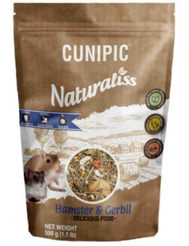 CUNIPIC Naturaliss Hamster y Jerbo 500g