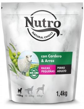 NUTRO Pienso Natural para Perros Pequeños con Cordero y Arroz 1.4kg