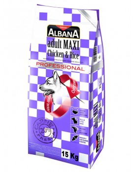 ALBANA MAXI ADULTO POLLO Y ARROZ 15 KILOS