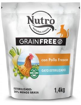 NUTRO Gato Adulto Grain Free Esterilizado Pollo 1,4Kg