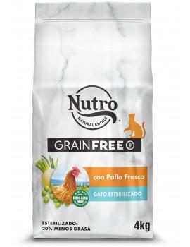 NUTRO Gato Adulto Grain Free Esterilizado Pollo 4kg