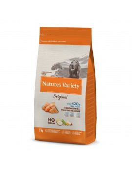 NATURE´S VARIETY Original No Grain Medium/Maxi Adulto Salmón 2Kg