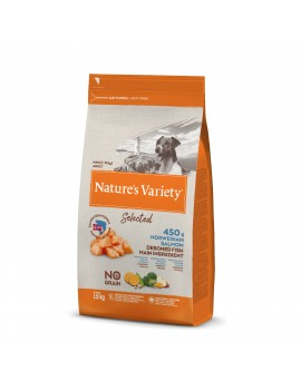 NATURE´S VARIETY Selected Mini Adult Salmón 1,5Kg
