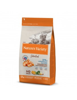 NATURE´S VARIETY Gato Selected Salmón 1,25Kg