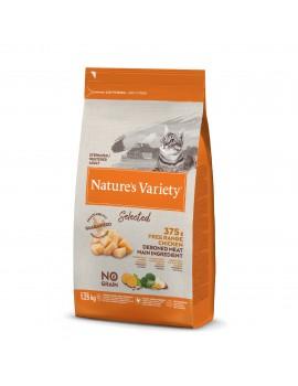 NATURE´S VARIETY Gato Selected Esterilizado Pollo 1,25Kg