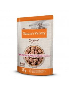 NATURE´S VARIETY Original No Grain Paté Buey Y Pollo 70g