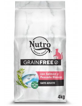 NUTRO Gato Grain Free Salmón y Pescado Blanco 4Kg