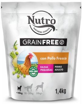 NUTRO Adulto Grain Free Razas Pequeñas Pollo 1,4Kg