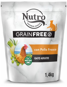 NUTRO Gato Adulto Grain Free Pollo 1,4Kg
