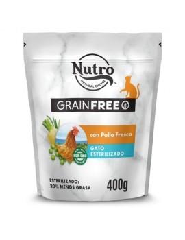 NUTRO Gato Adulto Grain Free Esterilizado Pollo 400g