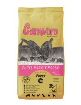 CARNIVORO PUPPY PATO PAVO POLLO 15 KG
