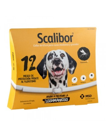 SCALIBOR Collar Antiparasitario Perro Grande 65 cm