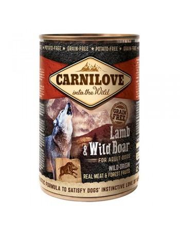 CARNILOVE PERRO HUMEDO Wild Meat Lamb & Wild Boar 400 GR.
