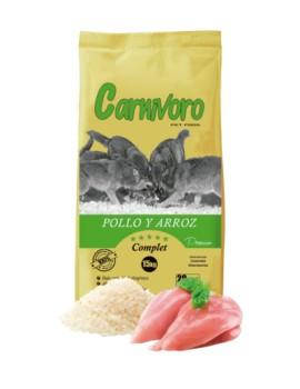 CARNÍVORO POLLO Y ARROZ 15 KG