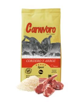 CARNÍVORO CORDERO Y ARROZ 18 KG