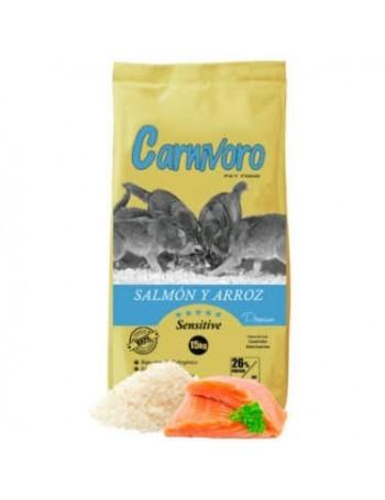 CARNIVORO SALMON Y ARROZ (SENSITIVE) 15 KILOS
