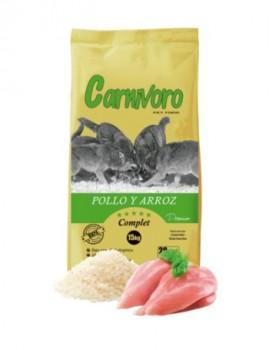 CARNIVORO POLLO Y ARROZ  15 KG PROMOCION
